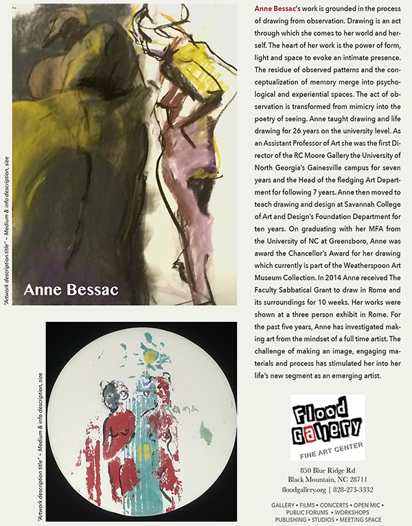 anne bessac exhibit opens Nov 21st at the Flood Gallery